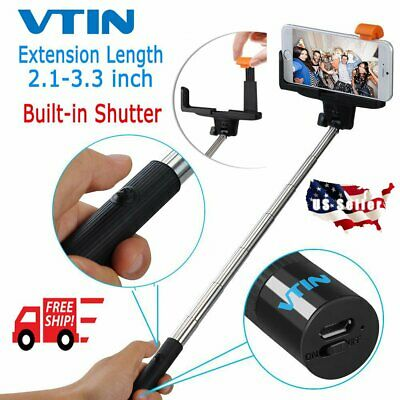 Bluetooth Selfie Stick Extendable Monopod Handheld Shutter For iPhone Samsung US