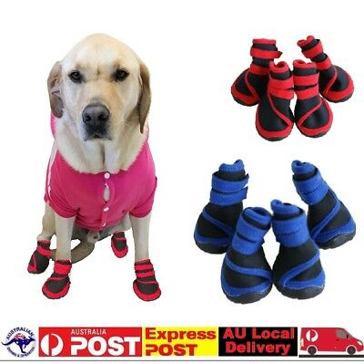 Dog Shoes Blue  Red Waterproof XXS XS S M L XL XXL - Boots Booties Paws Injury