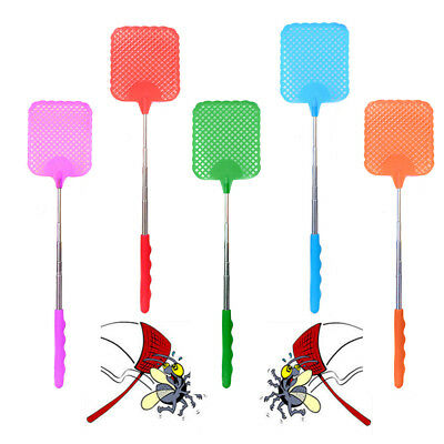 Adjustable Plastic Telescopic Extendable Fly Swatter Prevent Pest Mosquito Tool