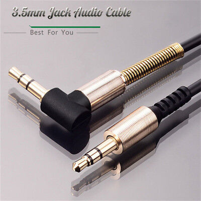 3.5mm Jack Cord Stereo Audio Cable Male To Male 90 Degree Right Angle Aux Cable#