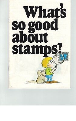 "1978     "" What's so good about stamps? "" - Australia Post stamp booklet"