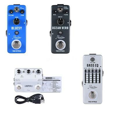 Rowin Overdrive Reverb LOOPER3 Equalizer Guitar Effect Pedal True Bypass K8K9