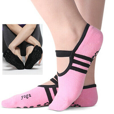 1 Pair Yoga Fitness Socks Non Slip Pilates Massage Ballet Socks Exercise Gym