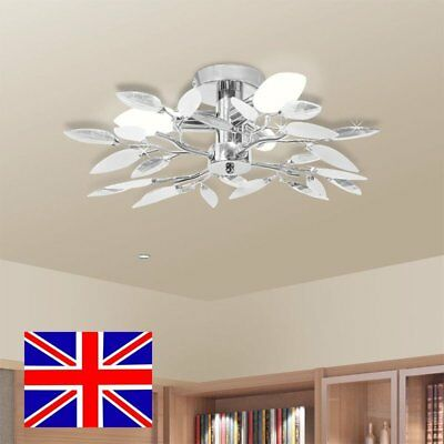 Ceiling Lamp Light Fixture Leaf Arms Lighting for 3 E14 Living Bedroom Decor
