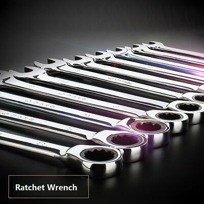 Ratchet Open End Ring Combination Spanner Wrench Set Automotive Tool 6mm-24mm