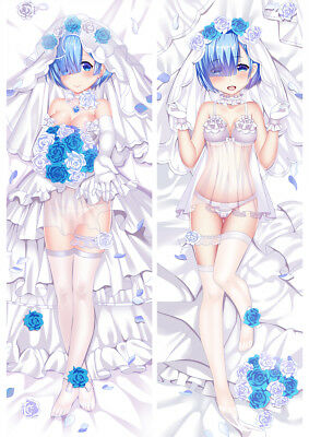 Re:Zero Hana Yome Rem Dakimakura Anime Girl Hugging Body Pillow Case Cover 59""