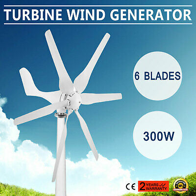 300W Wind Generator DC 12v   6Blades Wind Turbine With Charge Controller