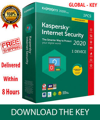 Kaspersky INTERNET Security 2018 Global  Key/ 1 Device/ 1 year /PC-Android 8.65$