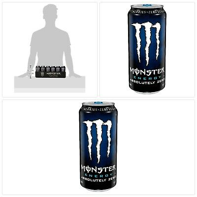 Monster Energy Drink, Absolutely Zero, 16 Ounce (Pack of 24) FREE SHIPPING