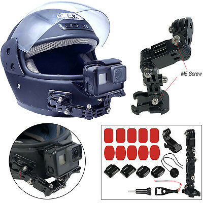 Gopro Helmet Front Chin Mount Set for Gopro Hero 6 5 4 3 Xiaomi Yi SJCAM Camera