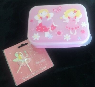 Sass & Belle Fairy Storage / Snack Box & A Ballerina/Fairy Embroidered Motif