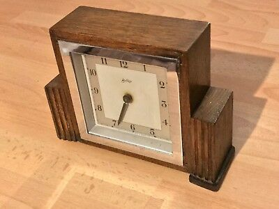 Lovely Working Mantel Clock John D Francis LTD 1947-1964 Missing Second Hand