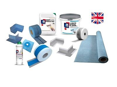WET ROOM SYSTEM WATERPROOFING TANKING KIT - Multi Choice SHOWER BATHROOM KITCHEN