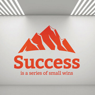 Success is a Series of Small Wins  - Study, Office Space Wall Art Sticker