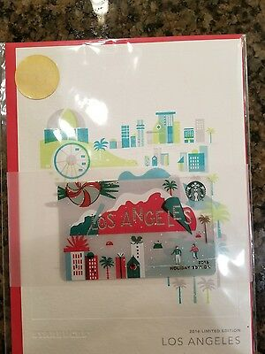 """2016 Los Angeles """"City"""" Starbucks Holiday Card  - New in package"""