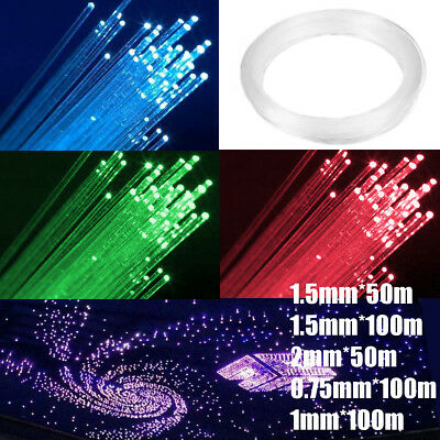 0.75mm/1mm/1.5mm/2mm PMMA End Glow Fiber Optic Cable for Star Ceiling Light Kit