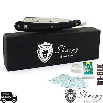 Sharpy England Beard Cut Throat Shaving Razor Rasoi +Free Blades And Gift Box