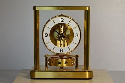 Table Clock Vintage Jaeger Le Coultre Atmos Caliber 540 Anni 90 + Packaging
