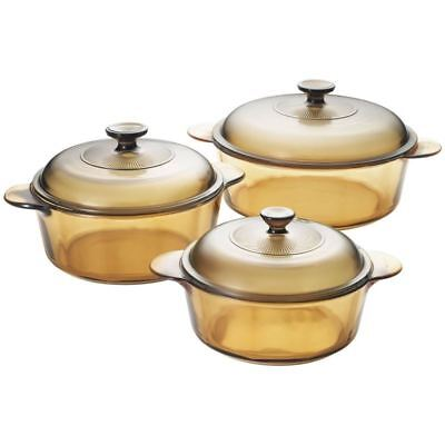 Visions - Versa Casserole with Lids<br>Set of 3 (Six pieces including lids)