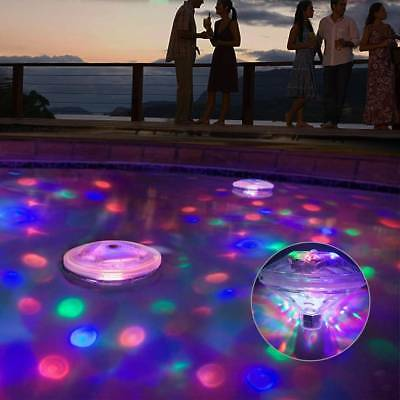 LED Light 7Color Water Drifting Lamp Pool Underwater Floating Pond Swimming Lamp