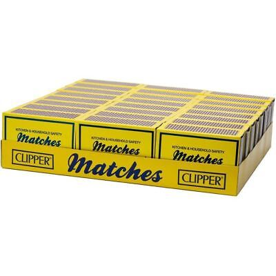 Clipper Matches Kitchen & Household (Small) Safety Matches x 24 Packs of 120