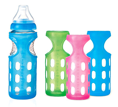 NEW Munchkin Mighty Grip Silicone Bottle Sleeve - 8 Ounces