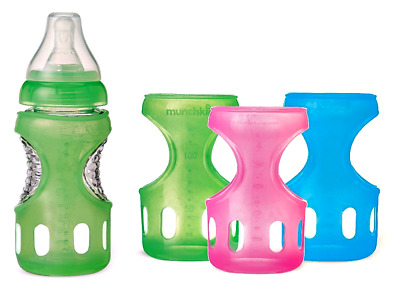NEW Munchkin Mighty Grip Silicone Bottle Sleeve - 4 Ounces