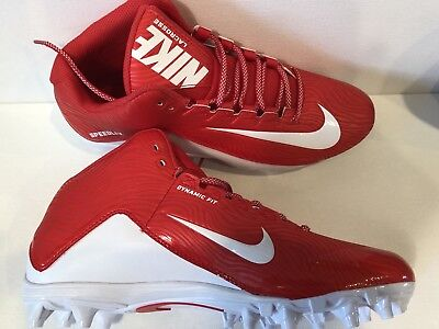 New Nike Men'S Speedlax 5 Red / White Lacrosse Cleats Size 11 #807143-611