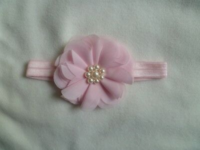 Baby clothes GIRL premature/tiny<7.5lbs/3.4kg pink pad headband special occasion