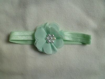 Baby clothes GIRL newborn 0-1m mint green pad headband special occasion SEE SHOP
