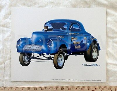 "Stone Woods Cook Art Print 1941 Willys 41 Lions Drag Strip Drag Race11/"" by 17/"""
