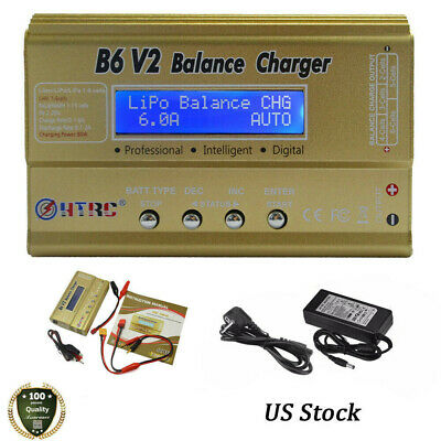 HTRC imax B6 V2 80W RC Car Drone Balance Charger for Lipo LiFe NiCd NiMH battery