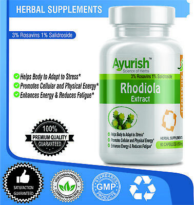 Rhodiola Rosea Root Extract 500 mg 180 Capsule Top Level Strength