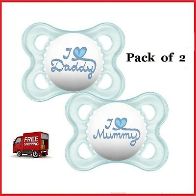 Mam Style I Love Mummy And Daddy Dummy Soother Pacifier For 0 Months 2 Pack