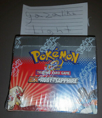 EX ruby & sapphire booster box SEALED! pokemon card mint condition