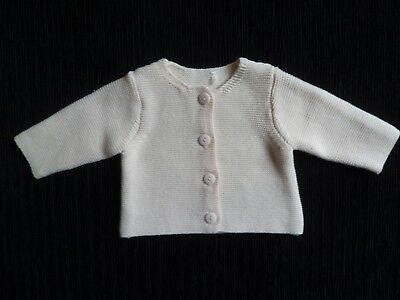 Baby clothes GIRL premature/tiny<5lb/2.3kg cute pink soft cardigan M'care cotton