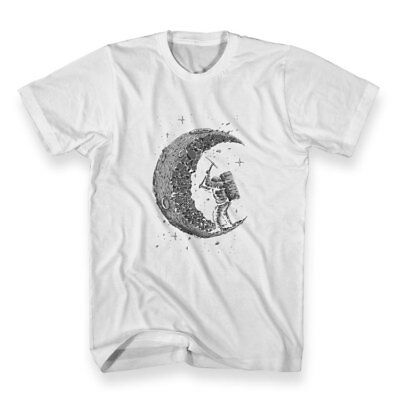 Digging The Moon Funny T-shirt Men's Size M - 3XL