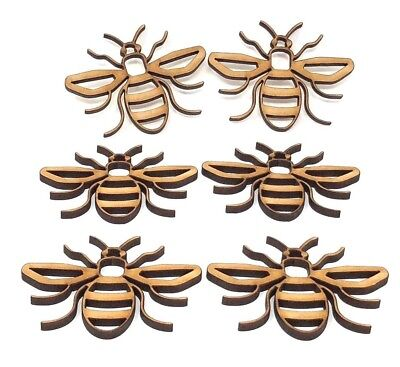 Manchester bee's, Bee Craft shape, detailed bee wooden mdf shape, embellishment