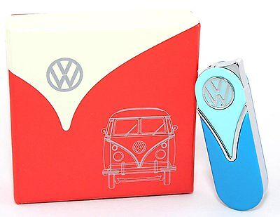 Volkswagen VW Cigarette Cigar Electron Two Tone Blue Gas Lighter Collectors NEW
