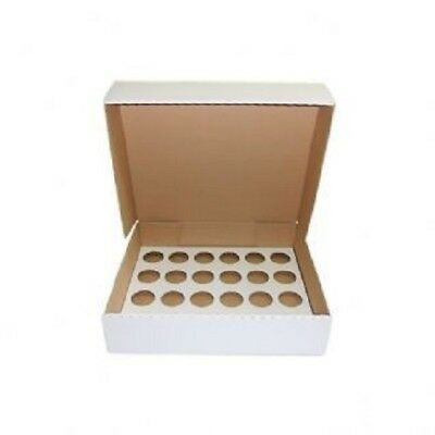 24 Cupcake Box with card insert, strong corrugated card, 1, 2 or 5 pack FREEPOST
