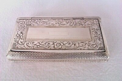 Rare & Beautifully Engraved Solid Silver George III French Snuff Box Circa 1807