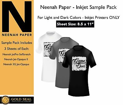 *Sample* Neenah Inkjet Iron On Heat Transfer Paper for Light and Dark 8.5 x 11