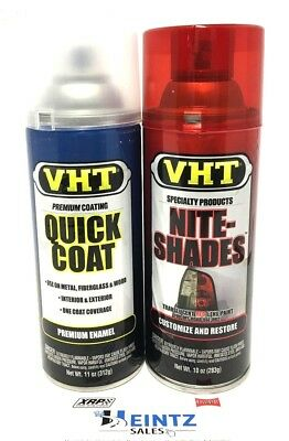 VHT SP888 + SP515 - Red Nite-Shades + Clear Coat -Red Restore Lens Tinting Paint