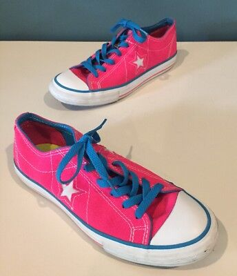 Converse One Star Hot Pink/Blue Womens Low Top Sneakers Size 7