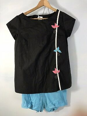 LU- VTG 60s Retro Rockabilly MATERNITY Top & Shorts Bloomers Playsuit S/M