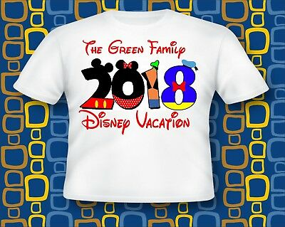 Personalized Disney Vacation T Shirt Castle All Sizes