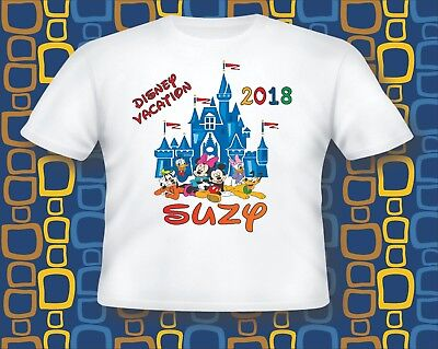 Personalized 2018 Disney Vacation T Shirt, Disney gang Castle vacation t shirt