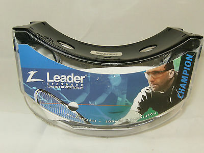 Leader Sports Champion Multi Sport Adult Eyeguard Shatter Resistant + Pouch NEW