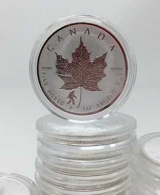 2016 1 oz Canadian Silver Maple Bigfoot Privy Coin (Reverse Proof) in Capsule