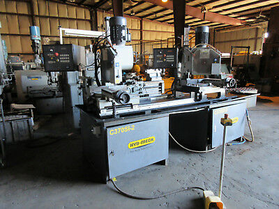 Hyd-Mech C370Si Semi Automatic Cold Saw Two Heads: C370-2Si